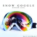 送料無料 スノーボード ゴーグル フレームレス ミラー ダブル レンズ ワイドスクリーン メンズ レディース 球面 スノーゴーグル スキー SNOWBOARD ...