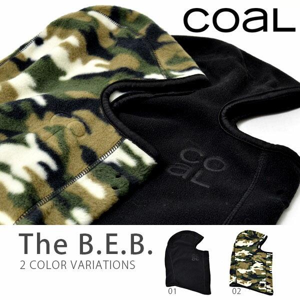 【得割40】フェイスマスク COAL コール メンズ レディース The B.E.B バラクラバ 目だし帽 ロゴ 無地 カモフラージュ カモフラ 迷彩柄 防寒 ビーニー 帽子 スノーボード スノボ スノー バイク スケボー 登山