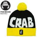 ゆうパケット対応可能! ポンポン ニット帽 クラブグラブ CRAB GRAB メンズ POM BEANIE 帽子 ニットキャップ ビーニー ロゴ ビーニー 国内正規品 スノーボード スキー スノボ 得割30