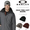 ニット帽 OAKLEY オークリー メンズ レディース DEAD TREE CUFF BEANIE ロゴ 折り返し ニットキャップ 帽子 ロゴキャップ スノーボ...