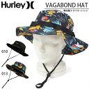 ショッピングスノボ 送料無料 ハット HURLEY ハーレー メンズ VAGABOND HAT 水陸両用 ハイブリット ロゴ 帽子 サファリハット サファリ HAT サーフハット サーフ