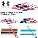 得割30 ヘアバンド 6本セット アンダーアーマー UNDER ARMOUR UA Mini Headbands 6pk レディース スポーツ バンド ヘッドバンド ヘアゴ..