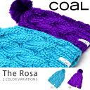 【得割30】 ネコポス対応可能! ニット帽 COAL コール ニットキャップ ボンボン ロゴ ビーニー The Rosa レディース 帽子 スノボ スノーボード スノー バイク スケボー 登山 カジュアル ストリート