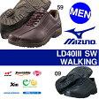 送料無料 ウォーキングシューズ LD40I SW ミズノ MIZUNO メンズ レザー ワイド スニーカー 本革 通勤 靴 ウォーキング シューズ