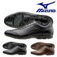 送料無料 ウォーキングシューズ ミズノ MIZUNO メンズ LD40 CROSS レザー ワイド ビジネスシューズ スニーカー 本革 天然皮革 通勤 靴 ウォーキング シューズ レザーシューズ