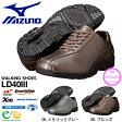 送料無料 ウォーキングシューズ ミズノ MIZUNO レディース LD40III スニーカー レザー 本革 靴 通勤 レザーシューズ