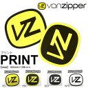 ネコポス対応可能! ボンジッパー VONZIPPER ステッカー PRINT プリント 142mm×128mm シール スノーボード