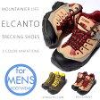 送料無料 トレッキングシューズ エルカント ELCANTO メンズ 登山靴 トレッキング シューズ ミッドカット 靴 登山 アウトドア ハイキング キャンプ 防水 撥水 EL-8002