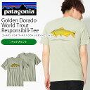半袖Tシャツ Patagonia パタゴニア Mens Golden Dorado World Trout Responsibili-Tee メンズ ゴールデン ドラド ワールド トラウト レスポンシビリティー 日本正規品 2018春夏新作 バックプリント