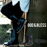 ����̵��!!��󥰥��󥸥˥��֡��� ��� ��ǥ����� ���åɥ֥쥹 9810 God��Bless FAKE LEATHER ENGINEER BOOTS ��󥰥֡��� ���󥸥˥��֡��ġڤ�����������