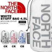スタッフバッグ THE NORTH FACE ノースフェイス ホワイトスタッフバッグ WHITE STUFF BAG 4.5L 小物入れ サック 巾着袋 【あす楽対応】