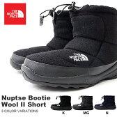 送料無料 ザ・ノースフェイス THE NORTH FACE Nuptse Bootie Wool II Short ヌプシ ブーティー ウール II ショートブーツ メンズ レディースブーツ アウトドア スノー シューズ 靴 NF51592 ザ ノースフェイス ウール素材