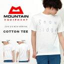 ラスト1点! 半袖 Tシャツ マウンテンイクイップメント MOUNTAIN EQUIPMENT メンズ コットン ティー スノーリッジ ロゴ プリント TEE シャツ カジュアル アウトドア レジャー ME 2016新作 27%off