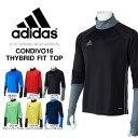 長袖 プラクティスシャツ アディダス adidas メンズ CONDIVO16 ハイブリッド フィットトップ トレーニングシャツ スポーツウェア シャツ ウェア サッカー フットサル フットボール 2016春新作