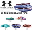 数量限定 6本セット ヘアバンド アンダーアーマー UNDER ARMOUR UA MINI HEADBANDS 6PK メンズ レディース スポーツ バンド ヘッドバン..