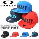 メッシュキャップ OAKLEY オークリー メンズ OAKLEY PERF HAT ロゴキャップ スナップバック メッシュ ロゴ 帽子 CAP カジュアル ストリート スケートボード アウトドア 2017春夏新作