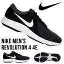 ランニングシューズ ナイキ NIKE メンズ レボリューション 4 4E 幅広 ワイド ランニング ジョギング マラソン 運動靴 靴 シューズ 初心者 トレーニング 部活 クラブ 通学 REVOLUTION AA7402 得割23