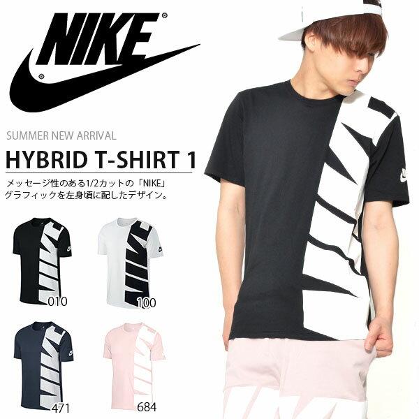 半袖 Tシャツ ナイキ NIKE メンズ ハイブリッド TEE シャツ 1 ロゴ ビッグロゴ プリント トレーニング スポーツウェア 2018夏新作 20%OFF