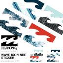 ネコポス対応可能! ステッカー ビラボン BILLABONG 14.5cm ロゴ カッティングシート シール スノーボード スノボ スケボー スケートボード サーフボード