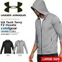送料無料 大きいサイズ パーカー アンダーアーマー UNDER ARMOUR UA Tech Terry FZ Hoodie メンズ フルジップ トレーナー 長袖 コールドギア トレーニング ウェア 2018春夏新作 1320193