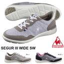 送料無料 スニーカー ルコック スポルティフ le coq sportif レディース セギュール 3 ワイド SW SEGUR III WIDE シューズ 靴 スウェット 得割20
