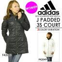 アディダス adidas J パデッド3Sコート 中綿コート ベンチコート レディース スポーツ観戦 アウター コート 40%off