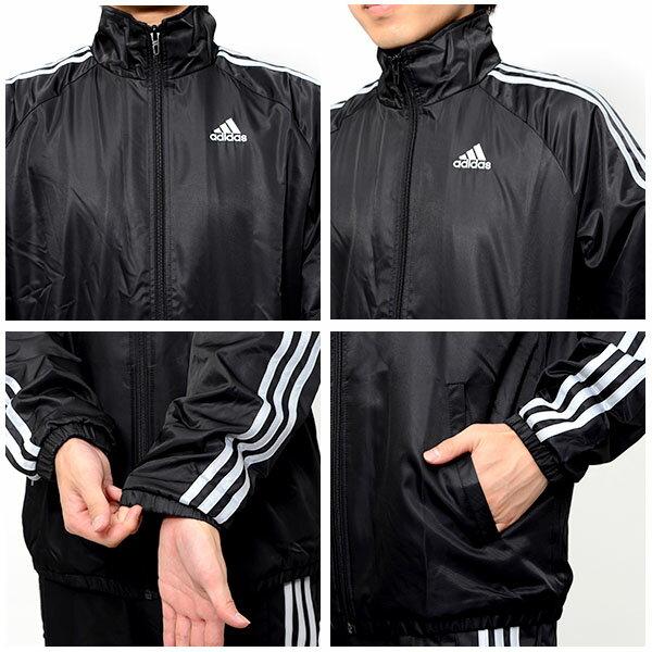 送料無料 ウィンドブレーカー 上下セット アディダス adidas ESS ウインド ジャケット パンツ メンズ セットアップ スポーツ トレーニング ウェア 2015秋冬新作 BDA14