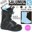 【得割30】送料無料 SALOMON サロモン スノーボード ブーツ レディース ボア システム PEARL BOA BOOTS スノボ スノーブーツ L37345700