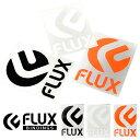 メール便対応可能! ステッカー FLUX フラックス 160mm×225mm Lサイズ ロゴ シール ダイカット スノーボード スノボ スキー スケボー