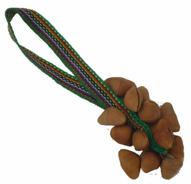 フォルクローレ楽器ペルーアンデス民族楽器チャクチャスチャフチャス木の実紐付き