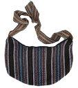 女士包 - アンデス AB-001-23 ペルー 半円型ショルダーバッグ インカ 民族織物 可愛い綺麗なストライプ柄