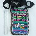 ショッピングデスク ペルー ミニショルダーバッグ AB-043-04 スマホケース 民族織物 マンタ 伝統織物 インカ アンデス クスコ 綺麗 アルパカ 刺繡