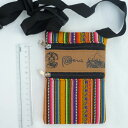 ショッピングスマホケース 手帳型 ペルー ミニショルダーバッグ AB-042-03 スマホケース 民族織物 マンタ 伝統織物 インカ アンデス クスコ 綺麗 アルパカ