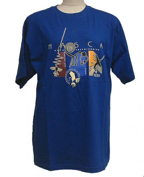 Tシャツ ナスカ地上絵 超長綿使用 アンデス インカ TC-131
