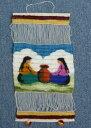 ペルー草木染め 織り込み壁掛け 綺麗 可愛い インディオ アンデス風景 アルパカ RA-A10