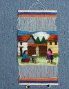 ペルー草木染め 織り込み壁掛け 綺麗 可愛い インディオ アンデス風景 アルパカ RA-A13