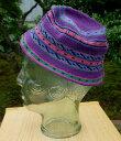 中米グアテマラ 帽子 ハット 綿100% 手編み 民族編み物 民族柄 子供用