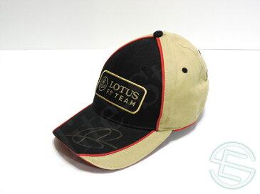 【送料無料】 ロマン・グロージャン 2013年 ロータス 支給品 直筆サイン入り キャップ 帽子 new (海外直輸入 F1 非売品グッズ メモラビリア)