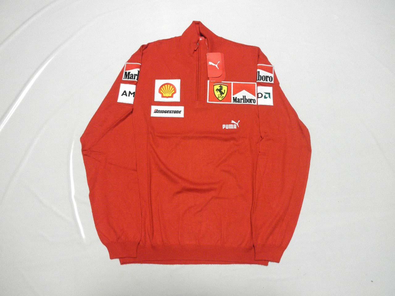 【送料無料】 フェラーリ 2009年 支給品 マルボロ タバコ版 上層部用 超高級 カシミア ハーフZIP プルオーバー セーター メンズ M new 新品 (海外直輸入 F1 非売品 グッズ) 一度は試して欲しい品質。素晴らしいの一言。