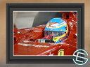 【メール便送料無料】フェルナンド・アロンソ 2014年 フェラーリ F1 バーレーンGP1 A4サイ