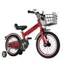 【M&M(エムアンドエム)】MINI KIDS BIKE16(2016モデル)(チリレッド)子供用自転車