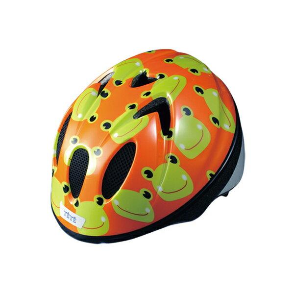徳島双輪TETEスプラッシュハートカエルXSサイズ(48-52cm)キッズ・子供用ヘルメット