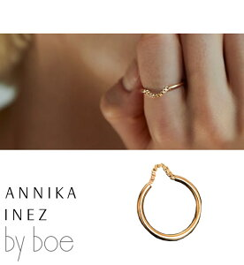 [BY BOE:ANNIKA INEZ/バイボー]BOX CHAINED RING / チ