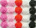【アクリルバラ/約17mm】デコパーツ デコ パーツ アクリル ビーズ ストーン 花 フラワー 薔薇 ばら ピンク レッド ホワイト ブラック 赤 白 黒 可愛い かわいい デコ ネイル レジン【あす楽】