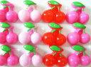 ショッピングスイーツ 【さくらんぼ(S)/約10mm】単品 デコ パーツ スイーツパーツ プラパーツ アクリルパーツ アクリル フルーツ 果物 サクランボ 桜桃 モチーフ ピンク レッド 赤 可愛い かわいい 小さめ 小 ミニ