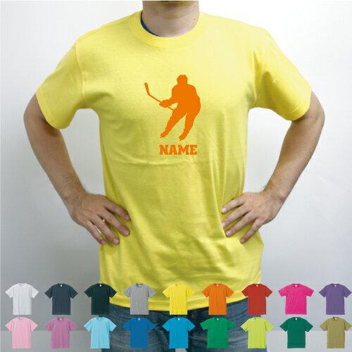 アイスホッケー/名入れTシャツお名前入り部活スポーツチームTシャツクラブTシャツ同好会Tシャツサーク