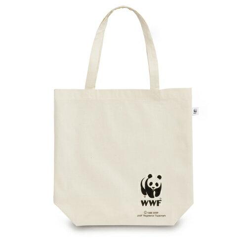 上野動物園にいるジャイアントパンダの名前はリーリーとシンシン!【WWFパンダ】リサイクルコットンパンダバッグ【エコマーク付】【ネコポス発送可】:PANDA、自然環境保護団体、国際的NGO、【stock】