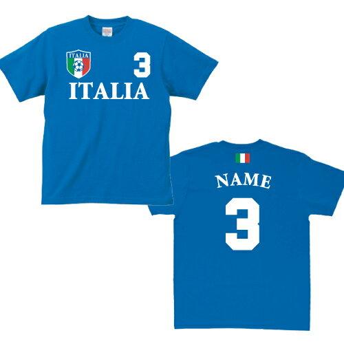 サッカーユニフォーム風Tシャツ「イタリア代表」/...の商品画像