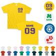「背番号&名入れ」選べるデザインキッズTシャツ/キッズウェア、メンズ、レディース、大人サイズまで対応、同好会、サークル、クラスTシャツ、チームウェア、お揃い、学園祭、オーダーメイド、オリジナルTシャツ、運動会、体育祭、ネコポス発送可!