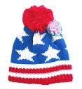 兒童, 嬰幼兒用品 - 【在庫限り】キッズニットキャップ 「US Flag」 【ネコポス発送可】在庫処分、最終価格アメリカン、スター、星条旗、キッズ、ニット、キャップ、帽子【stock】